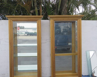 Pair of Two Tall Lighted Curio Display Cabinet Bookcase by Pulaski 8830X