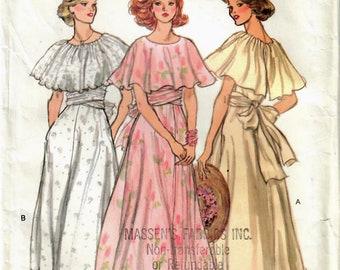 1970s Vogue 9731 Vintage Sewing Pattern Misses Evening Dress, Formal Dress Size 10 Bust 32-1/2