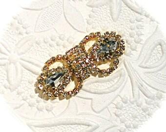 Gold Rhinestone Embellishment Jewelry Supplies Craft Supply BT-132
