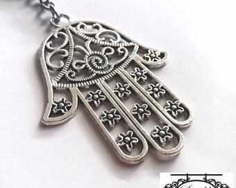 Hamsa Hand Keyring / Hamsa Keyring / Hand Key Ring / Evil Eye Key Ring / Hand Charm / Hamsa Charm / Hand of Fatima / Hand of Miriam Keyring