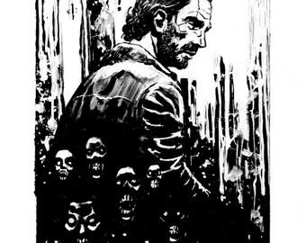 Inktober: The Walking Dead 8.5x11 Print