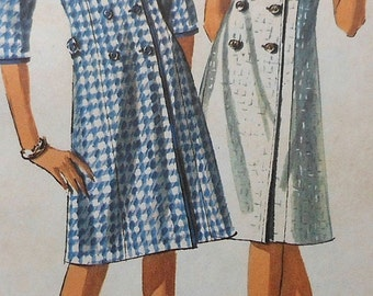 Vintage Dress Sewing Pattern UNCUT Simplicity 5917 Size 12