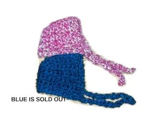 Newborn Baby Bonnet Easter Bonnet  Pink Baby Bonnet  Photo Prop Super Soft Baby Bonnet