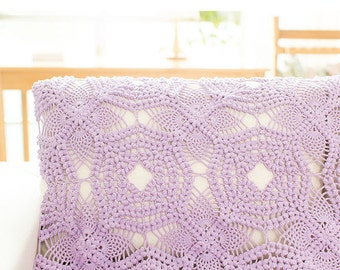 Crochet throw, Crochet bedspread,crochet blanket, Sofa throw,handmade blanket