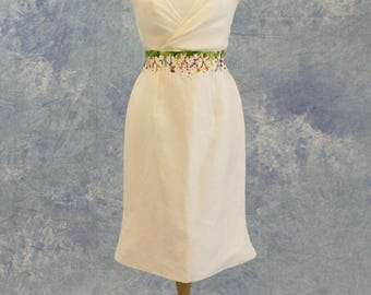 Short Wedding Dress Formal Wildflowers Hand Embroidery SAMPLE SALE!