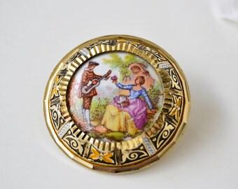 Vintage Brooch Vintage Jewelry Vintage Brooch Enamel