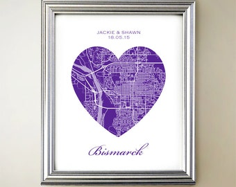 Bismarck Heart Map