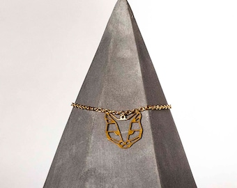 Cat Brass Necklace Pendant