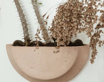 Half Moon Wall Planter Stoneware MADE TO ORDER