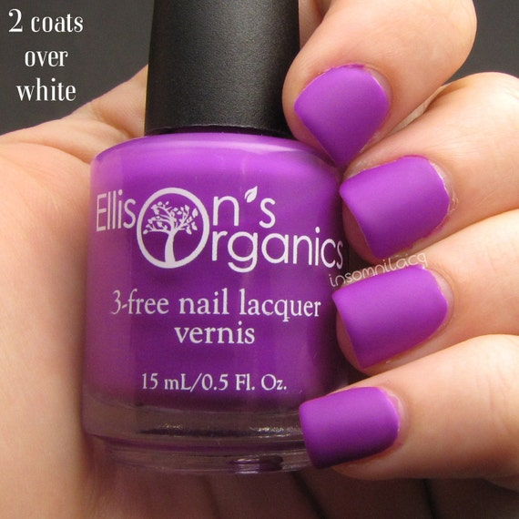 MATTE Purple Nail Polish - Glow in the Dark Nail Polish - Vegan ...