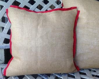 Christmas Burlap pillow cover/queen size pillow cover/king size pillow /standard pillow - Bedding/burlap bedding/women/pillow sham/women