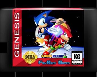 "SPECIAL ORDER! ""Sonic Classic Heroes"" Custom Sega Genesis Sonic Hack AMAZING!"