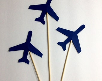 Navy airplane Table decor, Centerpiece, decorative accessory, 12 per order
