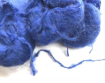 Colored Mohair Yarn.  Royal blue wool yarn. Seagreen wool yarn.