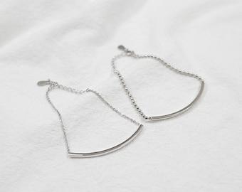 Silver Bracelet • Skinny Bar Bracelet • Delicate Chain • Dainty Bracelet • Simple Bar Bracelet • Gift