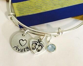 New Baby Bracelet, New Mom Bracelet ,Adjustable Bangle Bracelet, Family Bracelet, Personalized Bracelet, Mommy Bracelet