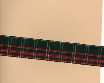 3 m 80 wide 4 cm and moire Plaid Ribbon