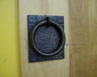 Arts & Crafts Style Door Knocker - Hand Forged