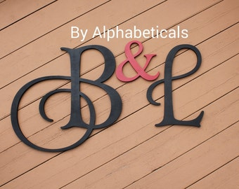 Wooden Initial Monogram Initials Wooden Signs Wall Decor Wooden Letters For Wall  Letters His And Hers Wall Hanging Large Alphabeticals