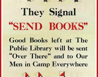 Art Print US Armed Forces Books Wanted World War I 8 x 10