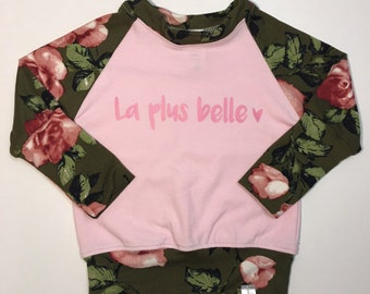 Grow with me top ''la plus belle'' floral print.