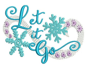 Let it Go Embroidery Design- Instant Download
