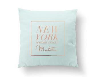 New York Pillow, Manhattan Pillow, Typography Pillow, Home Art, Cushion Cover,Throw Pillow,Bedroom Decor, Fashion Pillow, Decorative Pillow
