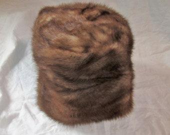 Mink Bucket Hat Fur Bucket Hat Vintage Brown Mink Fur Hat T Galistinos Athens Greece Mad Men 1950s 50s