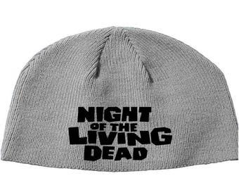 Night of the Living Dead Zombie George Romero Tom Savini  Beanie Knitted Hat Cap Winter Clothes Horror Merch Massacre Christmas Black Friday