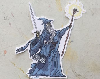 GANDALF Lord of the Rings RANKIN/BASS Waterproof Sticker