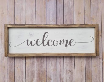 Welcome Sign, Rustic Welcome Sign, Welcome Wood Sign, Wood Welcome Sign, Welcome Rustic, Wedding Welcome, Wedding Welcome Sign, Framed Sign