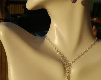 AAA Amethyst and Sterling Silver Necklace Set