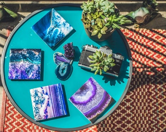 Crystal Inspired Ceramic Coasters