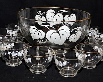 Jeanette Camellia Flower Eggnog Set - Set of 7