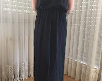 MAJE Maxi Dress black silk sz 36