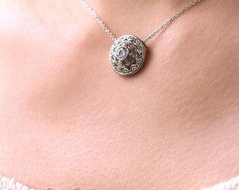 Art deco pendant etsy 059 ct art deco pendant necklace bridal necklace dream catcher style necklace audiocablefo