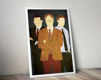 The Office poster alternative film poster tv poster Michael Jim Dwight poster
