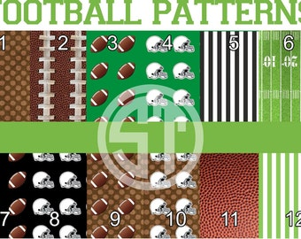 Football Patterns printed indoor, outdoor, glitter and metallic VINYL and heat transfer vinyl HTV and applique FABRIC