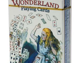 Alice In Wonderland Playing Cards - Blue Back Deck