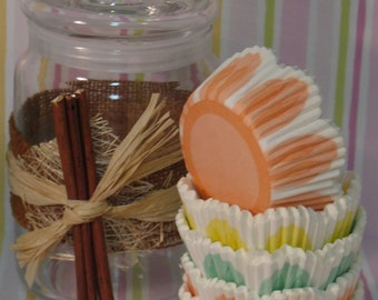 Tulip Shaped Cupcake Liners in Pastel Colors  (45 Qty)