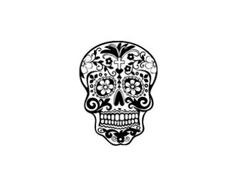 mini Sugar skull stamp, Day of the Dead stamp