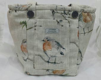 Irresistible, irascible Robin vegan Handmade Shoulder Bag.
