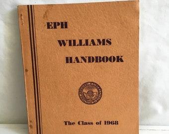 The Williams College Handbook 1964-1965 class of 1968 Williamstown Massachusetts