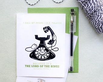Funny cell phone card - lord of the rings - just because greeting  card