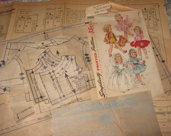 """14 1/2"""" Sweet Sue Toni Walker Harriet Hubbard Ayer Revlon dolls by Ideal toy company Simplicity 4909 Vintage Doll Clothes pattern"""
