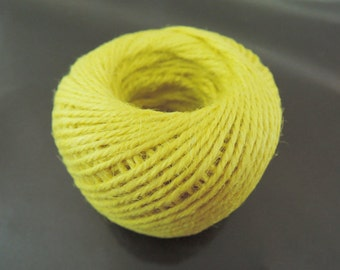 Hemp Cord - 50 Yards 2mm Yellow Hang Tag String Hemp Twine Cord Hemp Rope Gift Wrapping Party Favors Wedding Favors