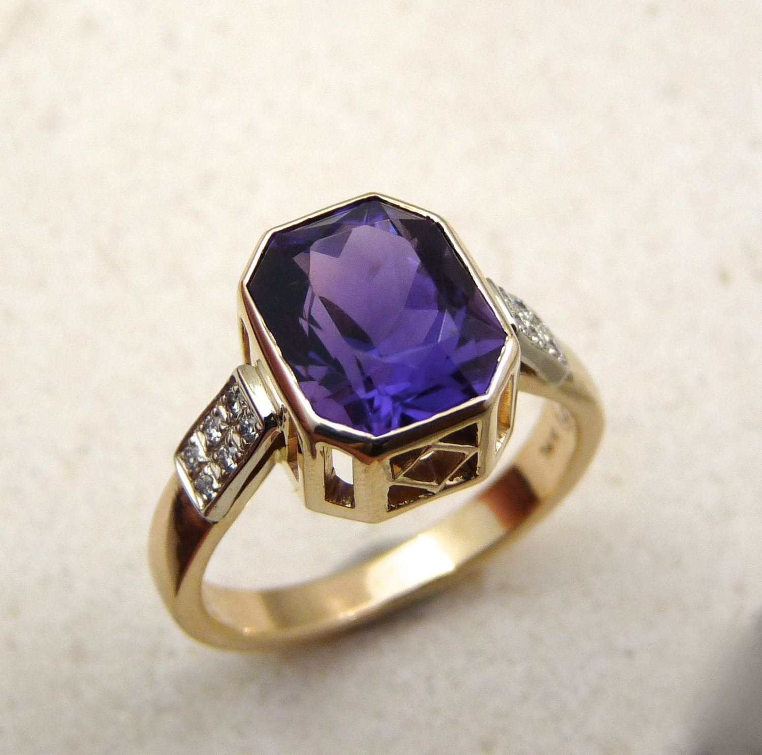 shopcart sabrinasilver green amethyst home rings impl purple