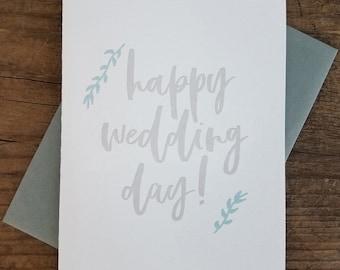 Happy Wedding Day Letterpress Card