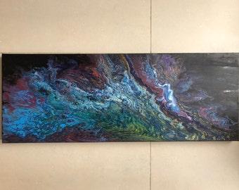 Acrylic Pour Painting on deep edge canvas