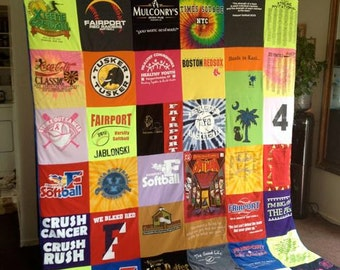 Custom T-Shirt Memory Blanket - unlimited amount of items - CA KING
